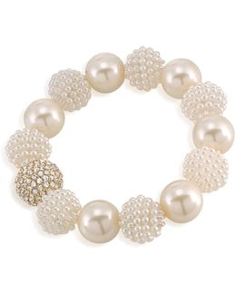 Simulated Pearl Beaded Bracelet