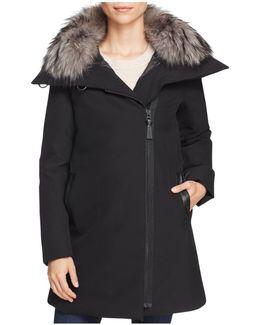Fur Collar A-line Parka