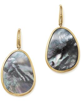 18k Yellow Gold Lunaria Black Mother-of-pearl Drop Earrings