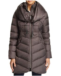 Shawl Collar Puffer Coat