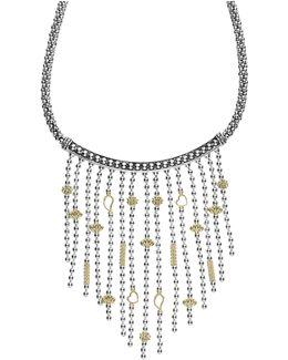 'caviar Icon' Rope Bib Necklace
