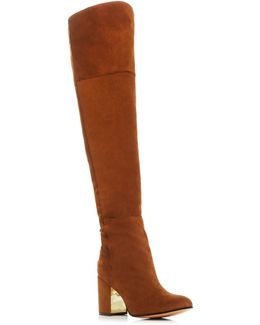 Twilight Lace Up Over The Knee High Heel Boots