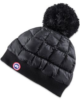 Down Pom Toque Hat