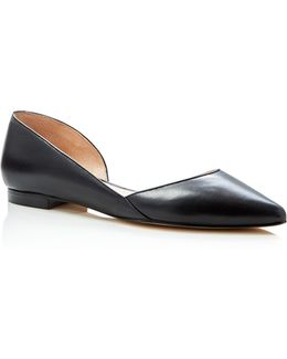 Sunny Pointed Toe D'orsay Flats