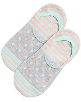 Pastel Stripe Dot Liner Socks