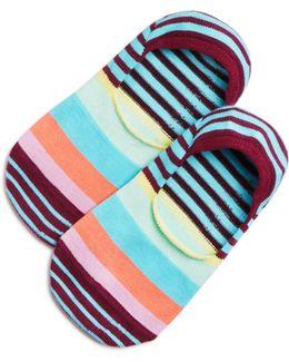 Chunky Stripe Liner Socks