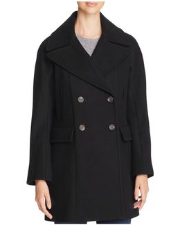 Double-breasted Button Front Coat