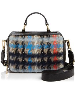 Small Pied Poule Tweed Satchel