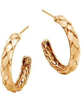 18k Yellow Gold Legends Cobra Small Hoop Earrings
