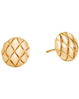 18k Yellow Gold Legends Cobra Stud Earrings