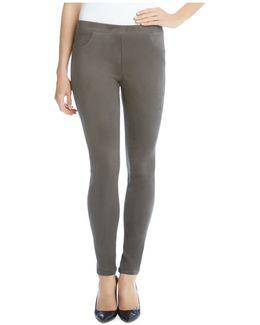 Faux Suede Skinny Pants