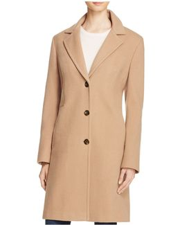 Single-breasted Button Front Coat