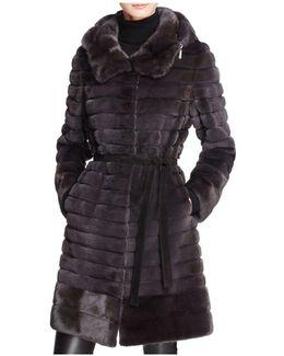 Hooded Long Mink Coat
