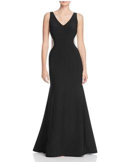 Embellished Side Gown