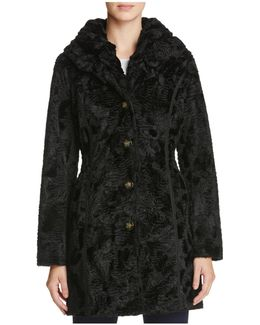 Reversible Persian Faux Lamb Fur Coat