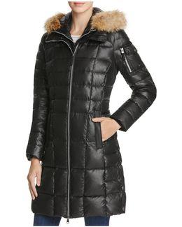 Lindsay Fur Trim Down Coat