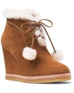 Collection Chadwick Suede And Shearling Wedge Booties