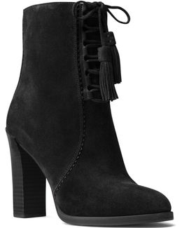 Collection Odile Lace Up Block Heel Booties