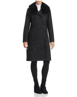 Anna Fur Trim Coat