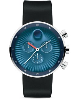 Chronograph Edge Silicone Strap Watch