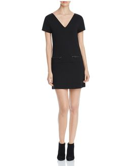 Zip Pocket Shift Dress