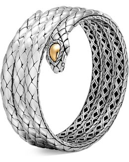 18k Yellow Gold And Sterling Silver Legends Cobra Triple Coil Bracelet