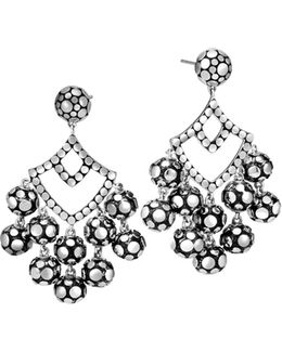 Sterling Silver Dot Chandelier Earrings
