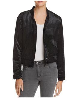 Lexi Crop Velvet Jacket