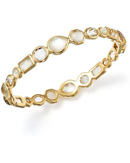 18k Gold Rock Candy® Mixed Stone Bangle Bracelet In Flirt