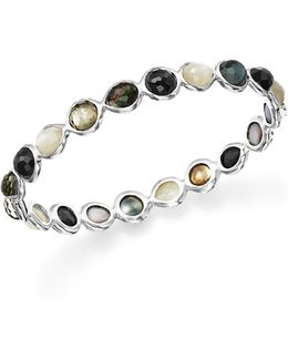 Sterling Silver Rock Candy® Bangle Bracelet In Black Tie