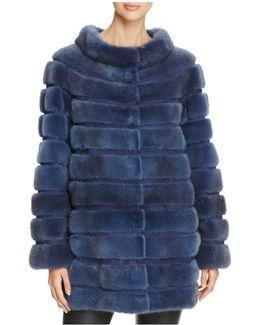 X Carmen Marc Valvo Mink Fur Coat