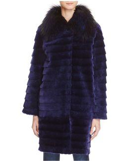 Fox Fur Collar & Lamb Shearling Coat