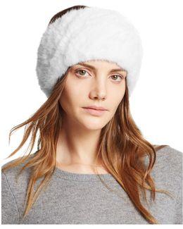 Knit Mink Fur Headband