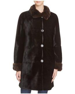 X Trilogy Reversible Sheared Mink Coat