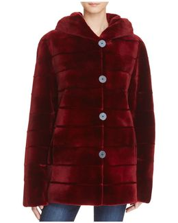 Reversible Sheared Saga Mink Coat