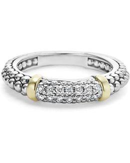 'caviar' Diamond Band Ring