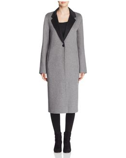 Double-faced Longline Coat