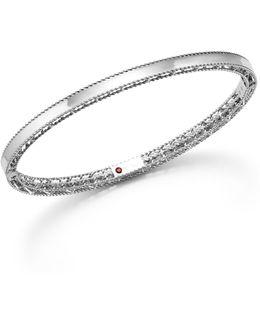 18k White Gold Symphony Princess Bangle Bracelet