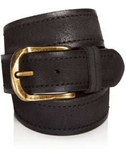 Textured Suede Stitch Belt