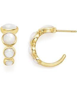 18k Yellow Gold Lollipop® Multi-stone Hoop Earrings In Mother-of-pearl