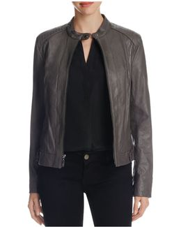 Wing Collar Goat Leather Jacket