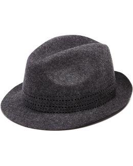 Hole Punch Felt Hat