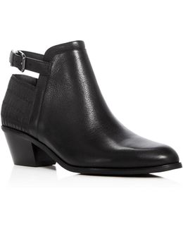 Caryn Low Heel Booties