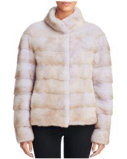 Grooved Mink Fur Coat
