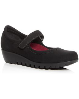 Pia Low Wedge Mary Jane Pumps
