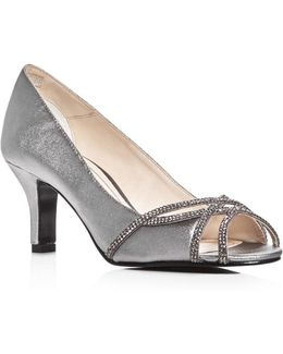 Eliza Metallic Embellished Pumps
