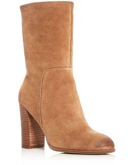 Jenni High Heel Mid Calf Booties