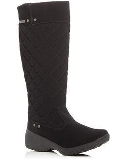 Alex Quilted Waterproof Wedge Boots