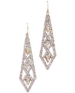 Spiked Lattice Drop Earrings