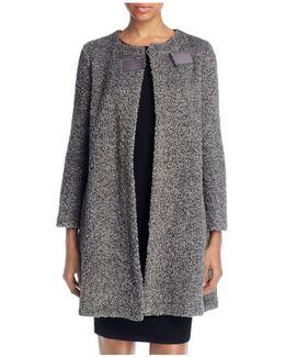 Bouclé Wool Blend Coat
